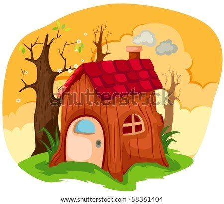illustration of cartoon fairy tale house
