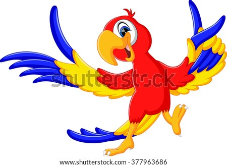 illustration of cartoon parrot