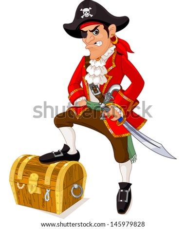 illustration of cartoon pirate