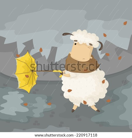 illustration of cartoon sheep