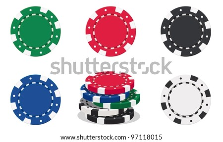 illustration of casino chips on