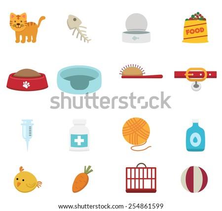 illustration of cat icon set