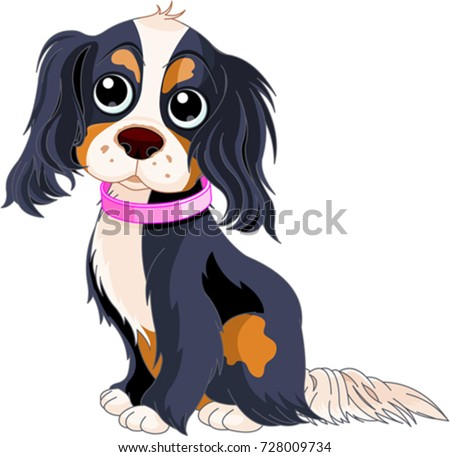 Illustration of Cavalier King Charles Spaniel