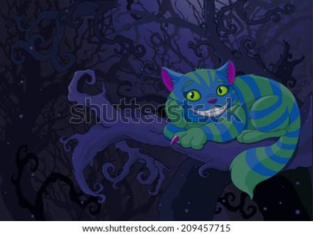 illustration of cheshire cat