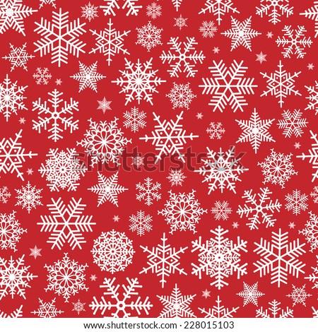 stock-vector-illustration-of-christmas-pattern-with-white-snowflakes-on-red-background
