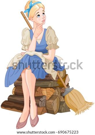 illustration of cinderella