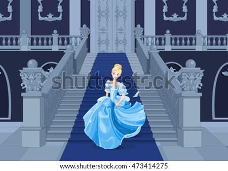 illustration of cinderella runs