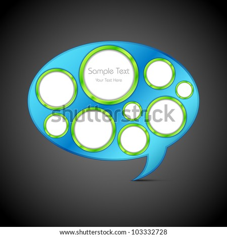 illustration of circle in chat bubble for web template