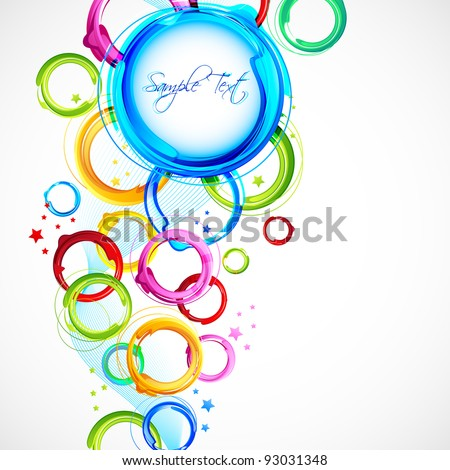 illustration of circular pattern on abstract vector background - stock vector