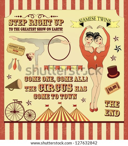 illustration of  circus stars