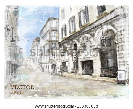 illustration of city street