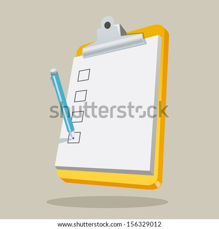 Illustration of clipboard with checklist.