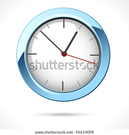 illustration of clock on abstract white background