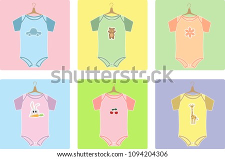 illustration of clothes for children, baby clothes, baby clothes vector, baby clothes shop