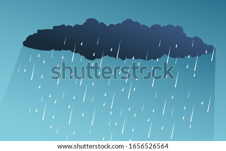 illustration of cloud and rain