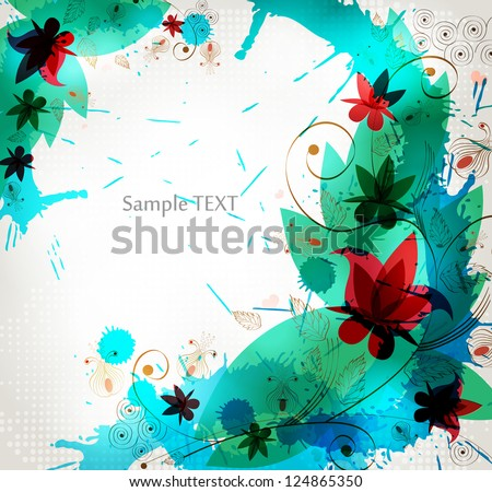 illustration of  cold flower background. abstract background