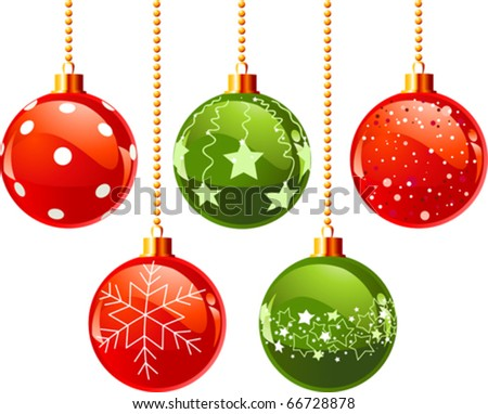 Illustration of color Christmas balls