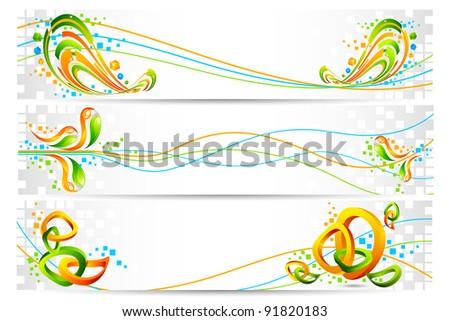 illustration of colorful banner