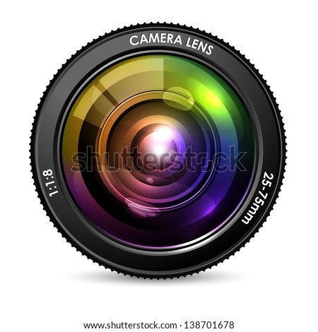 illustration of colorful camera