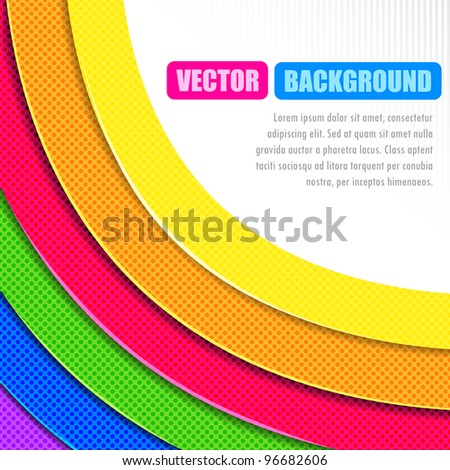 illustration of colorful circular stripe on white background