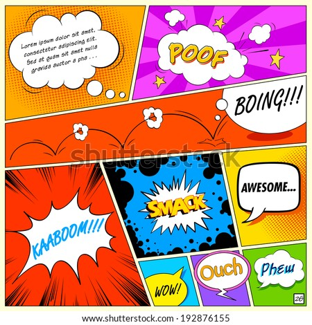illustration of colorful comic