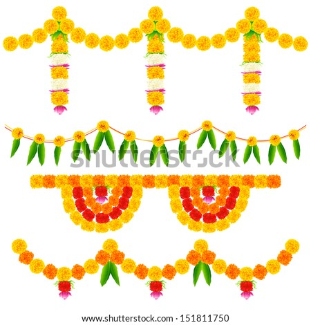 illustration of colorful flower arrangement for festival decoration