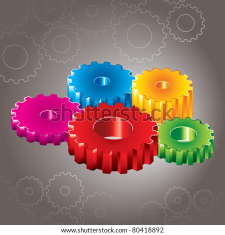 illustration of colorful gears