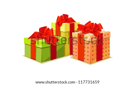 illustration of colorful gift