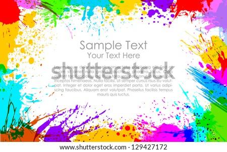 illustration of colorful grunge making frame