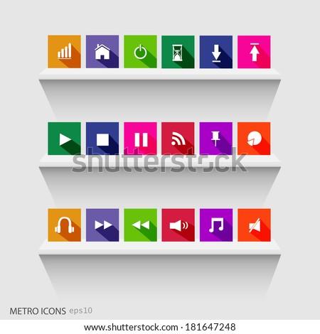 illustration of colorful metro