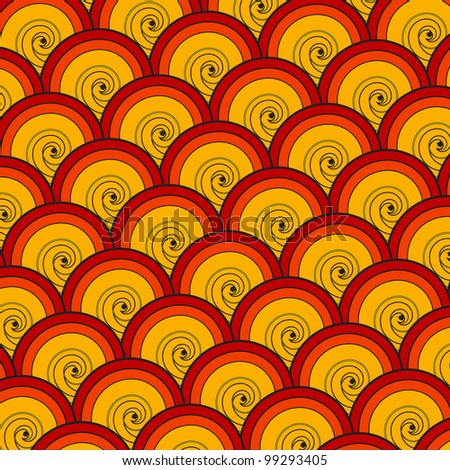 illustration of colorful seamless pattern background