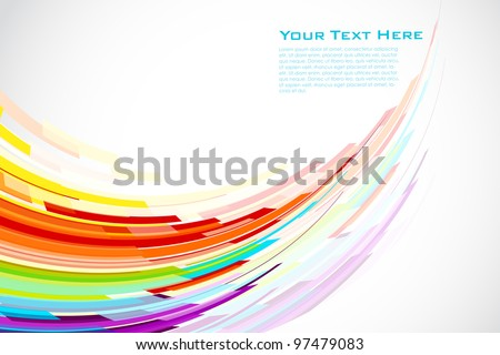 Stock Photo illustration of colorful stripe on abstract background