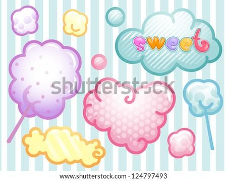 Cotton Candy clip art Free Vector / 4Vector