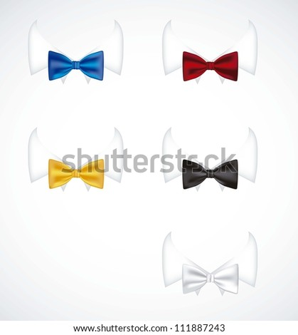 illustration of colorful ties with serious neck shirt, vector illustration
