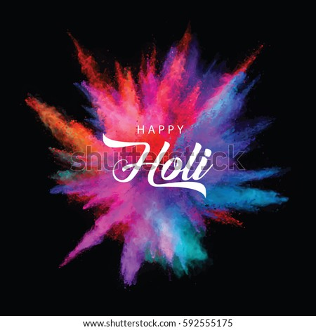 Illustration of colourful explosion for Happy Holi