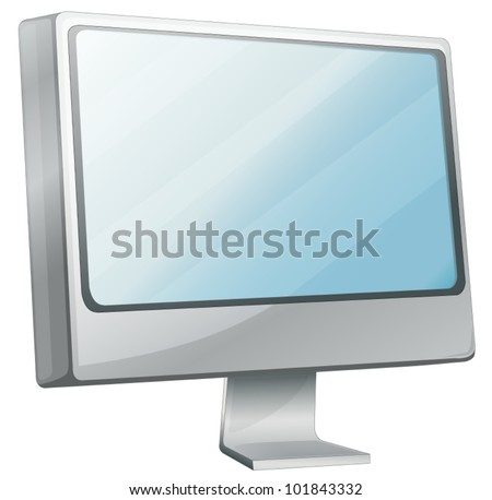 Illustration of computer monitor desktop