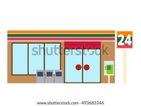Illustration of convenience store