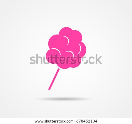 Illustration of cotton candy on white background