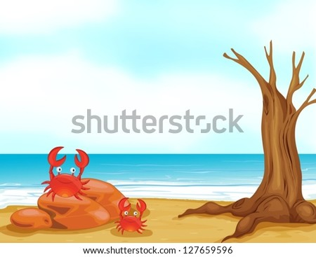 illustration of crabs on a