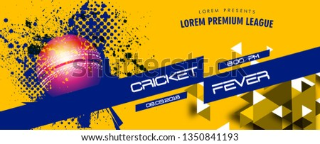 illustration of  Cricket with ball for Cricket Championship  cricket sports background - Vector