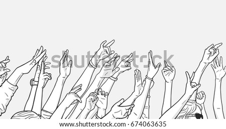 illustration of crowd cheering