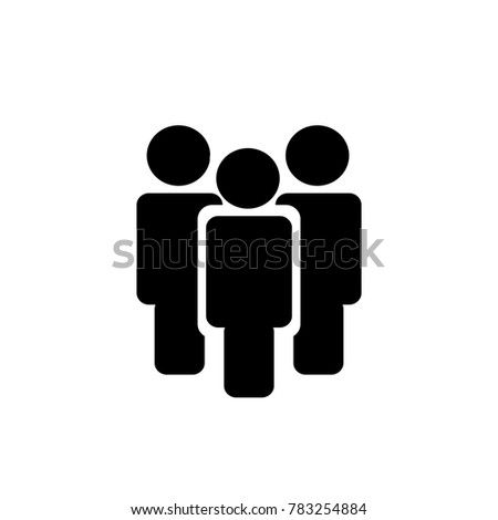 Illustration of crowd of people . vector icon 10 eps