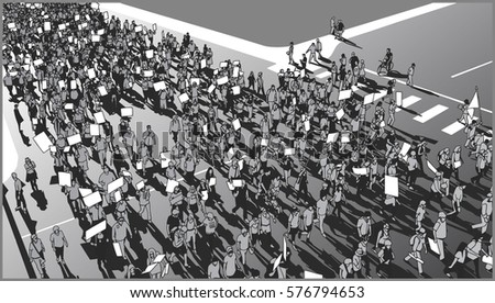 illustration of crowd