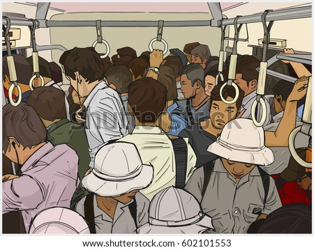 illustration of crowded