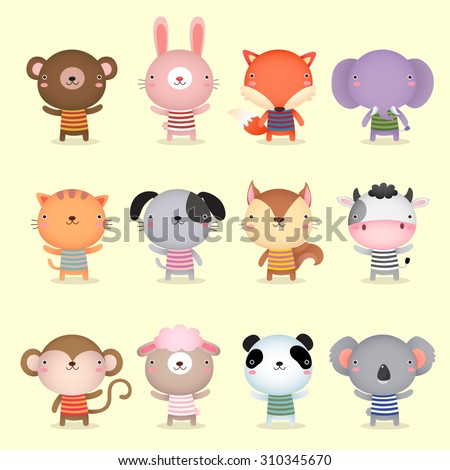 illustration of cute animals