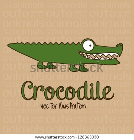 Illustration of Cute Animals crocodile illustration vector illustration