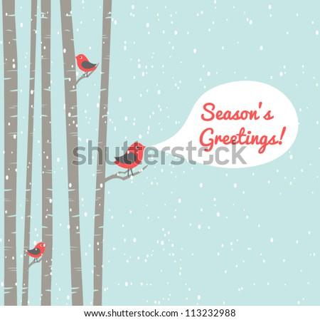 illustration of cute birds