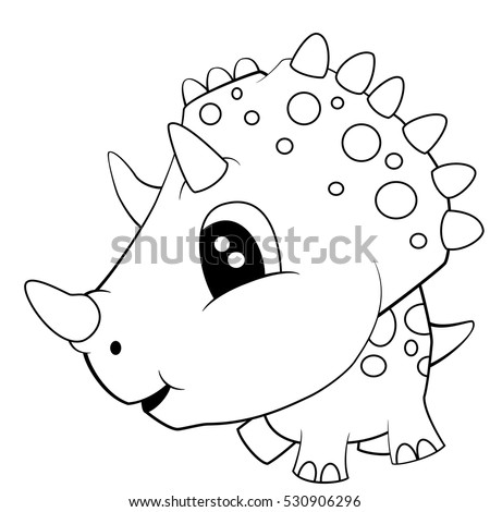 illustration of cute black and