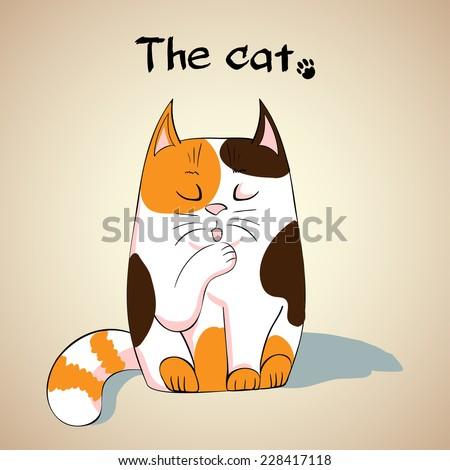 illustration of cute cat