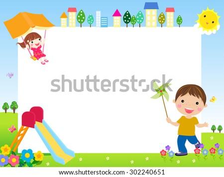 illustration of cute children